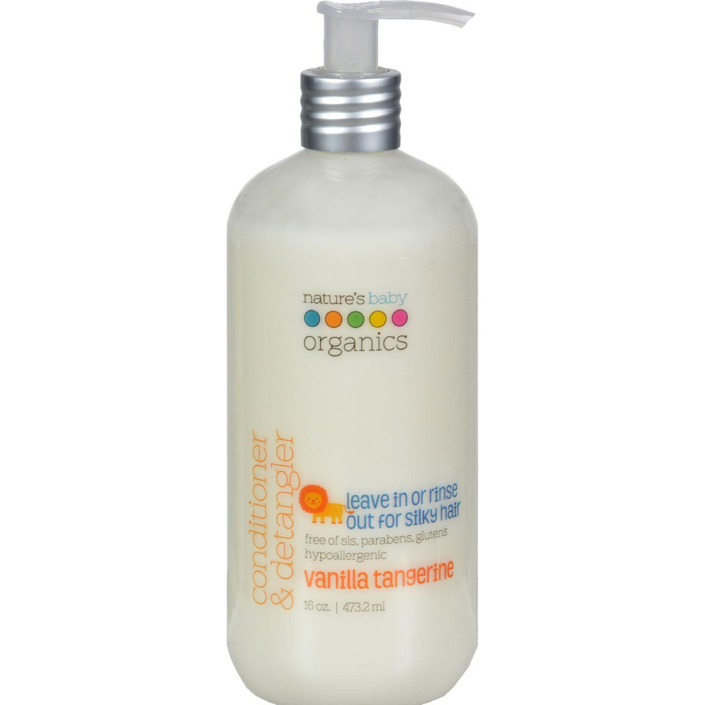 Nature's Baby Organics Conditioner And Detangler Vanilla Tangerine - 16 Fl Oz-Nature's Baby Organics-pantryperks