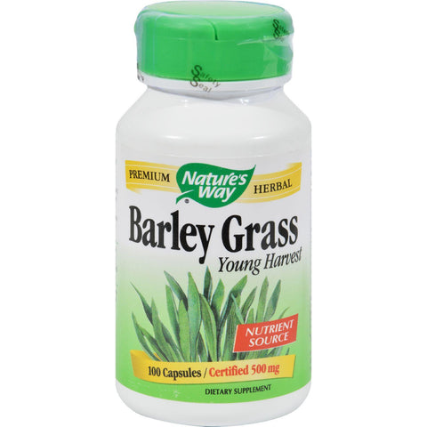 Nature's Way Barley Grass Young Harvest - 100 Capsules-Nature's Way-pantryperks