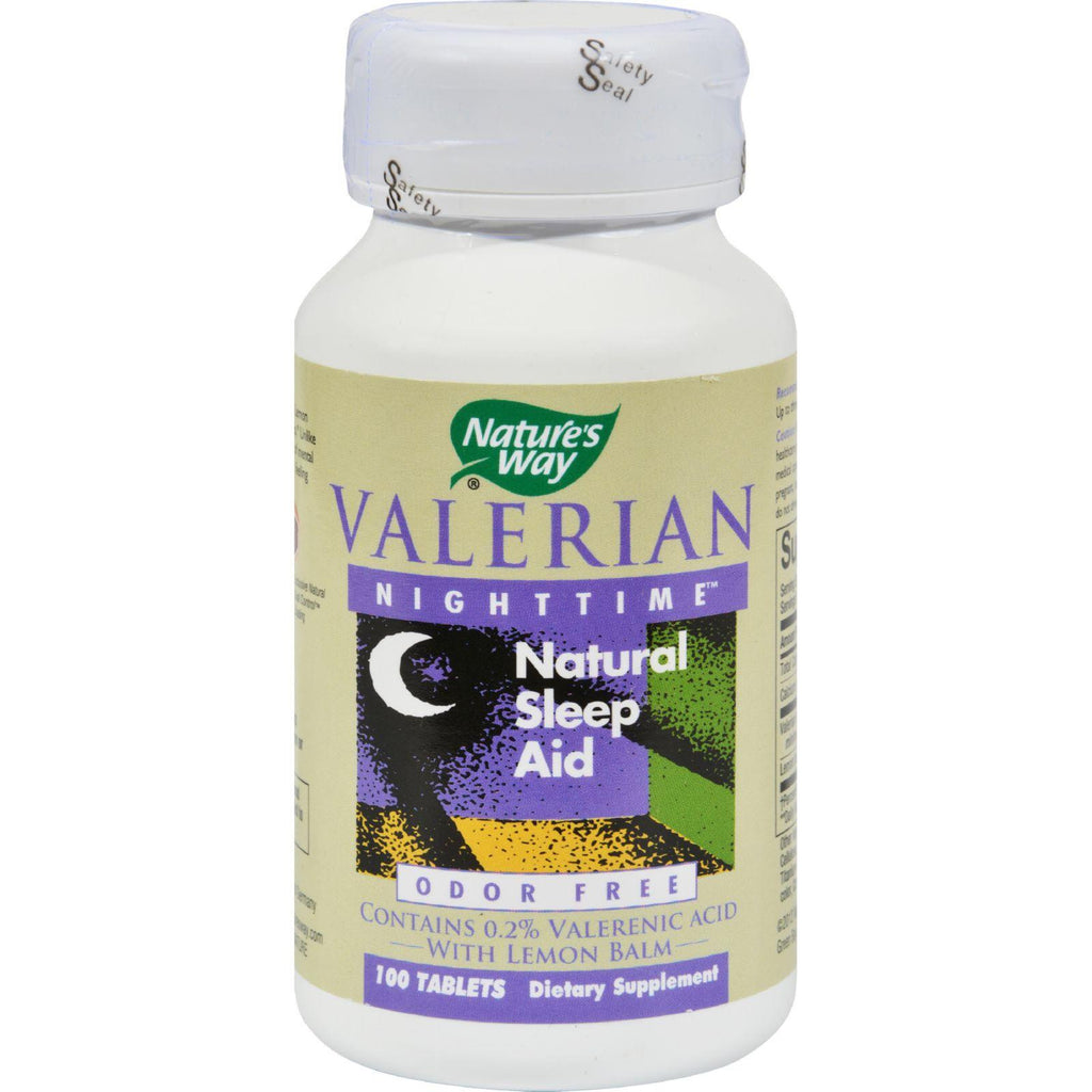 Nature's Way Valerian Nighttime - 100 Tablets-Nature's Way-pantryperks
