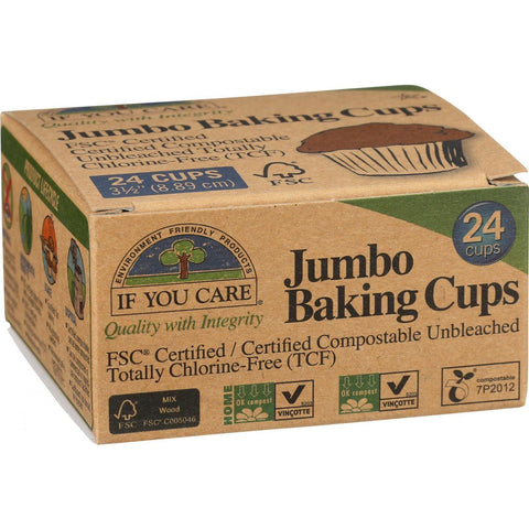 If You Care Baking Cups - Jumbo - Unbleached Totally Chlorine Free - 24 Count-If You Care-pantryperks