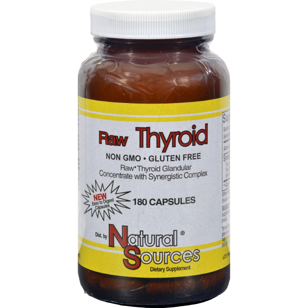 Natural Sources Raw Thyroid - 180 Caps-Natural Sources-pantryperks