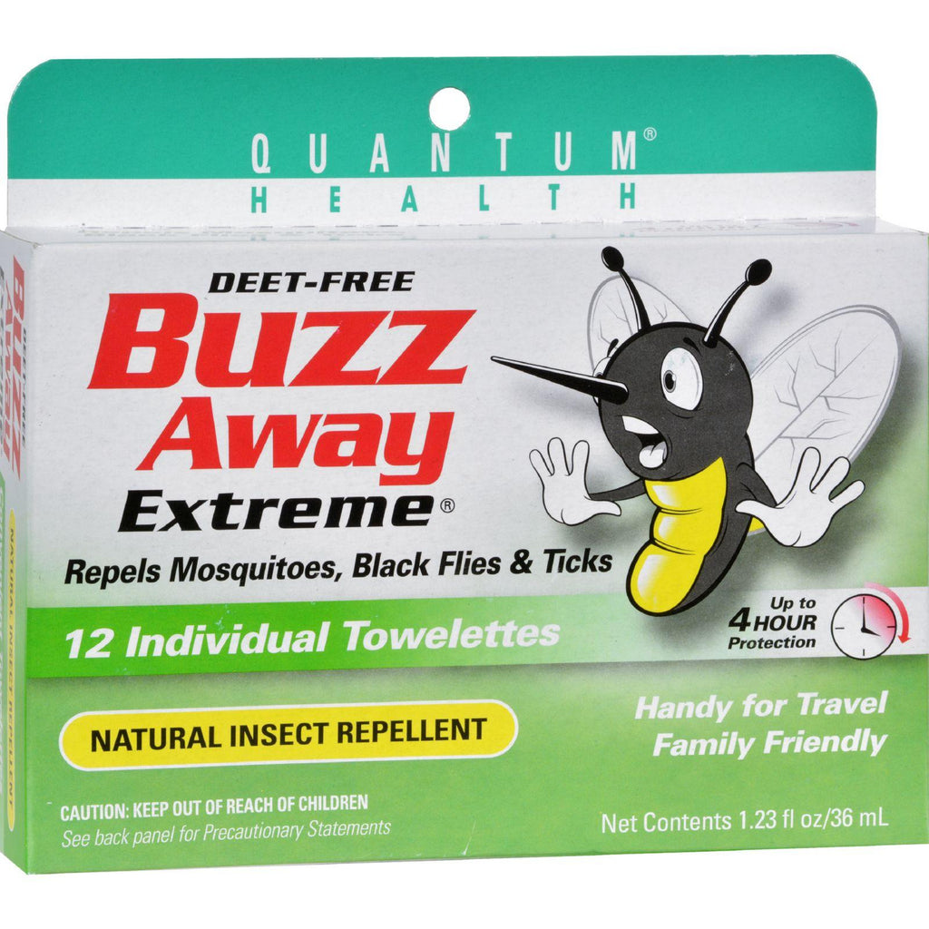Quantum Research Buzz Away Towelettes - 12 Pack-Quantum Research-pantryperks