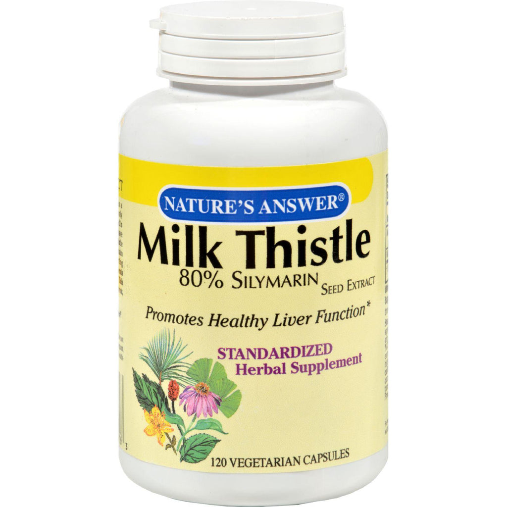 Nature's Answer Milk Thistle Seed Extract - 120 Vegetarian Capsules-Nature's Answer-pantryperks