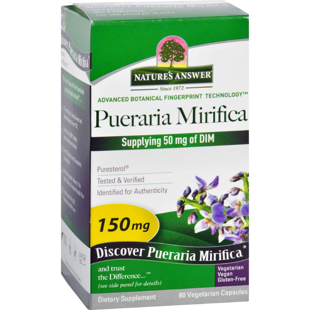 Nature's Answer Pueraria Mirifica Estro Balance - 60 Vegetarian Capsules-Nature's Answer-pantryperks
