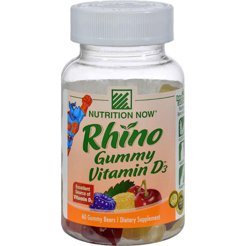 Nutrition Now Rhino Vitamin D3™ Gummies - 60 Gummies-Nutrition Now-pantryperks