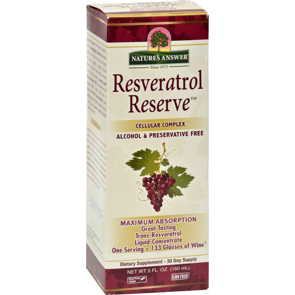 Nature's Answer Resveratrol Reserve Alcohol Free - 5 Fl Oz-Nature's Answer-pantryperks
