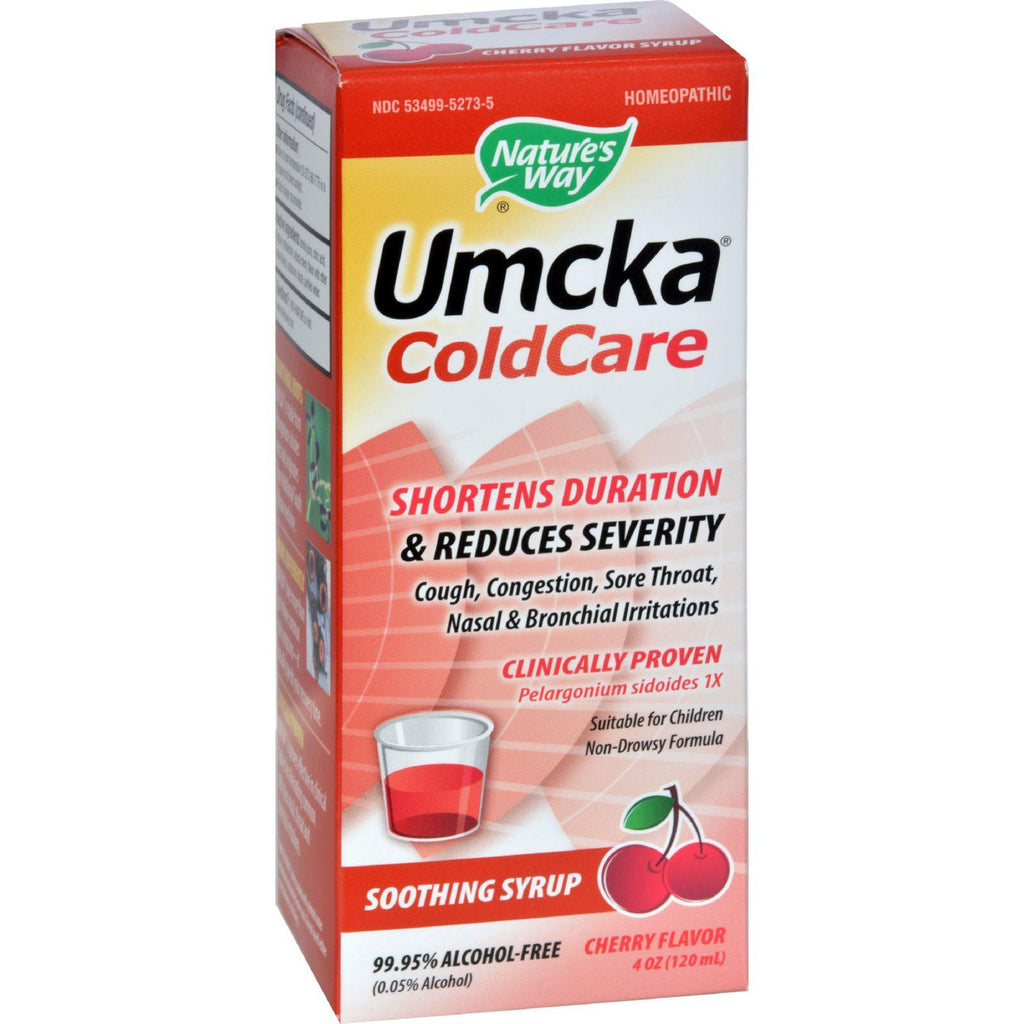 Natures Way Umcka Cold Care - Alcohol Free Cherry 4 oz.-Nature's Way-pantryperks