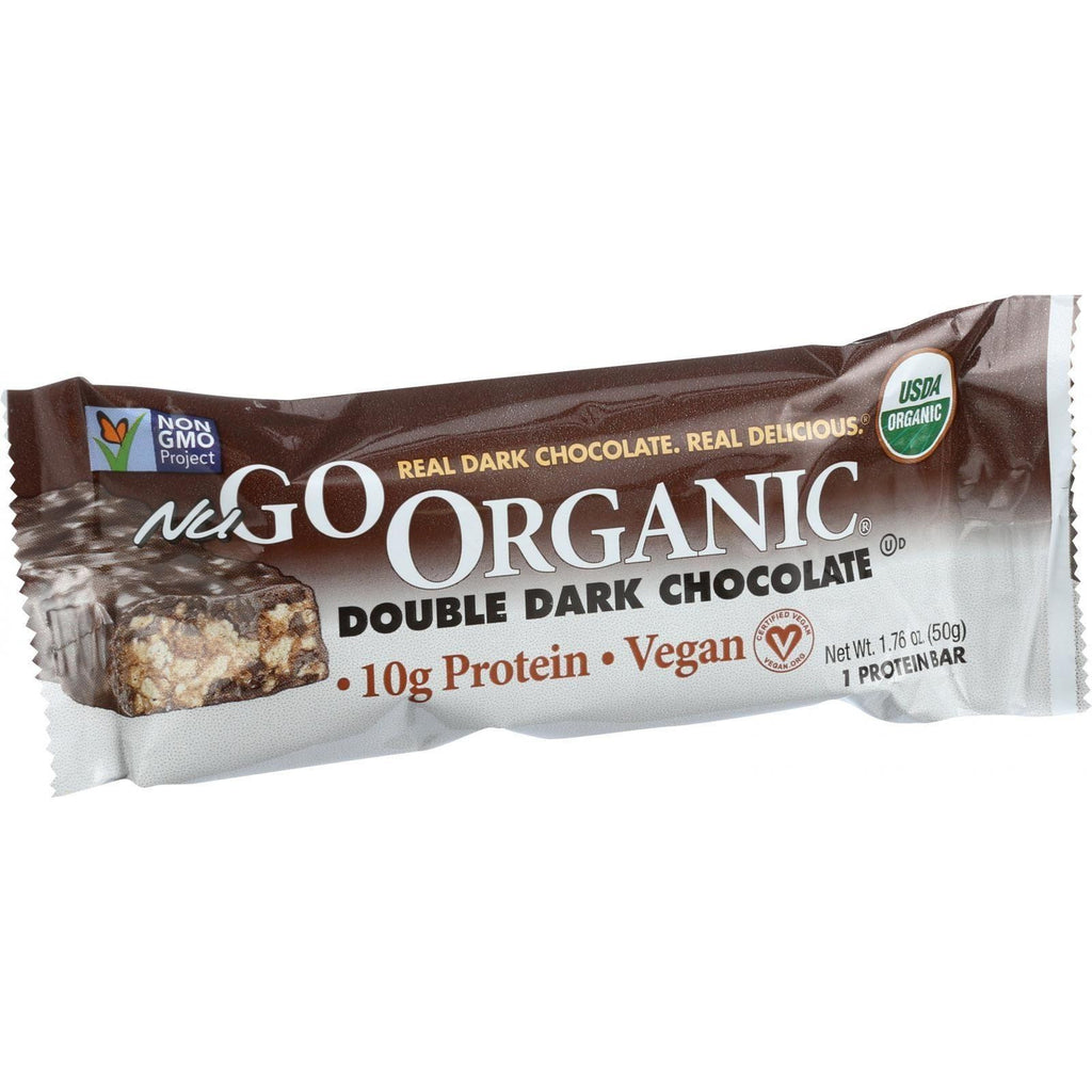 NuGo Organic Nutrition Bar - Dark Double Chocolate - 1.76-Ounce Bars - Pack of 12-Nugo Nutrition-pantryperks