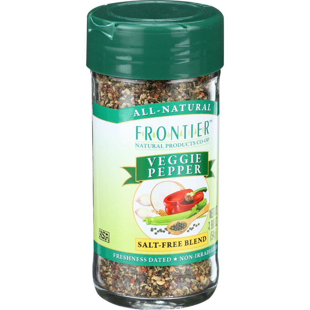Frontier Herb Veggie Pepper Seasoning Blend - 1.90 Oz-Frontier Herb-pantryperks
