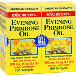 American Health Royal Brittany Evening Primrose Oil 100+100 Softgels-American Health-pantryperks