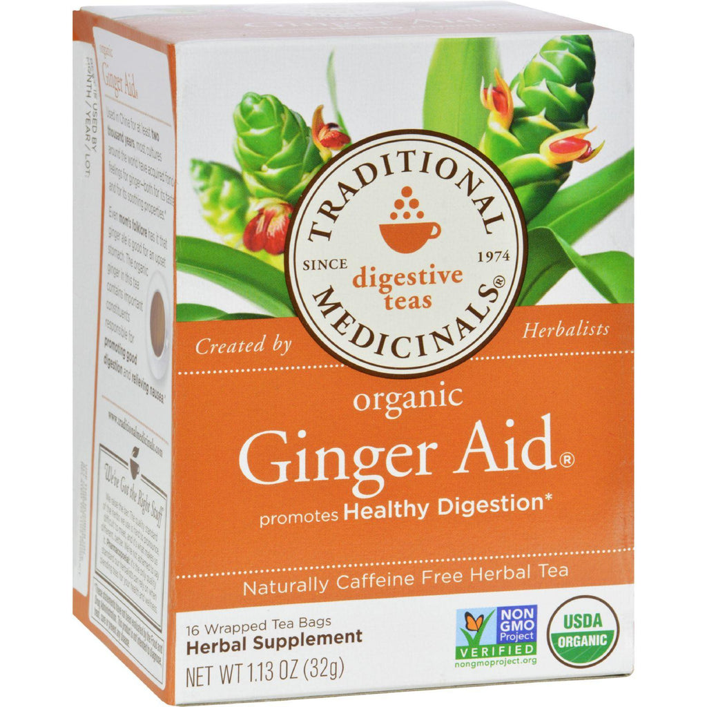 Traditional Medicinals Organic Ginger Aidå¨ Herbal Tea - 16 Tea Bags-Traditional Medicinals-pantryperks