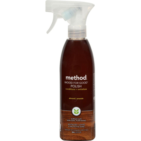 Method Naturally Derived Wood for Good Polish Spray - Almond - 12 Ounce-Method Products-pantryperks