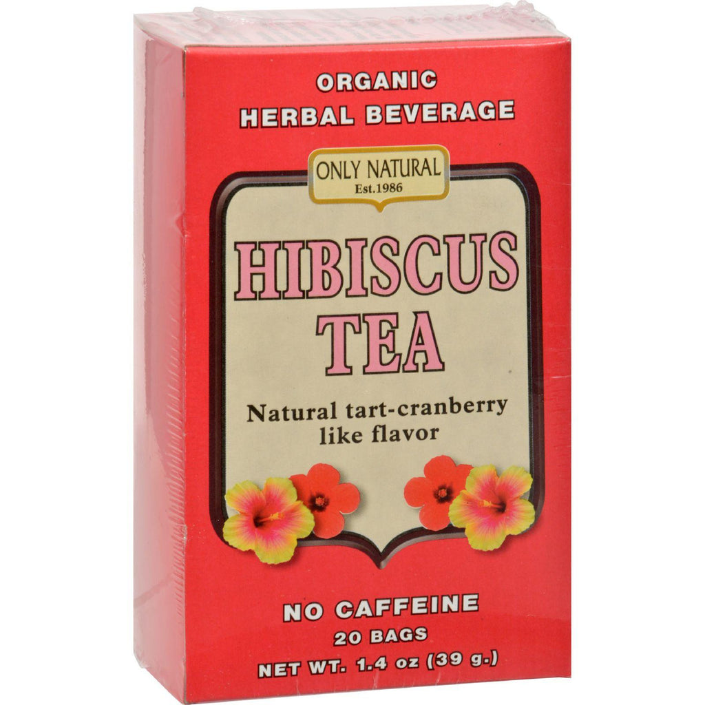 Only Natural Organic Hibiscus Tea - 20 Bags-Only Natural-pantryperks