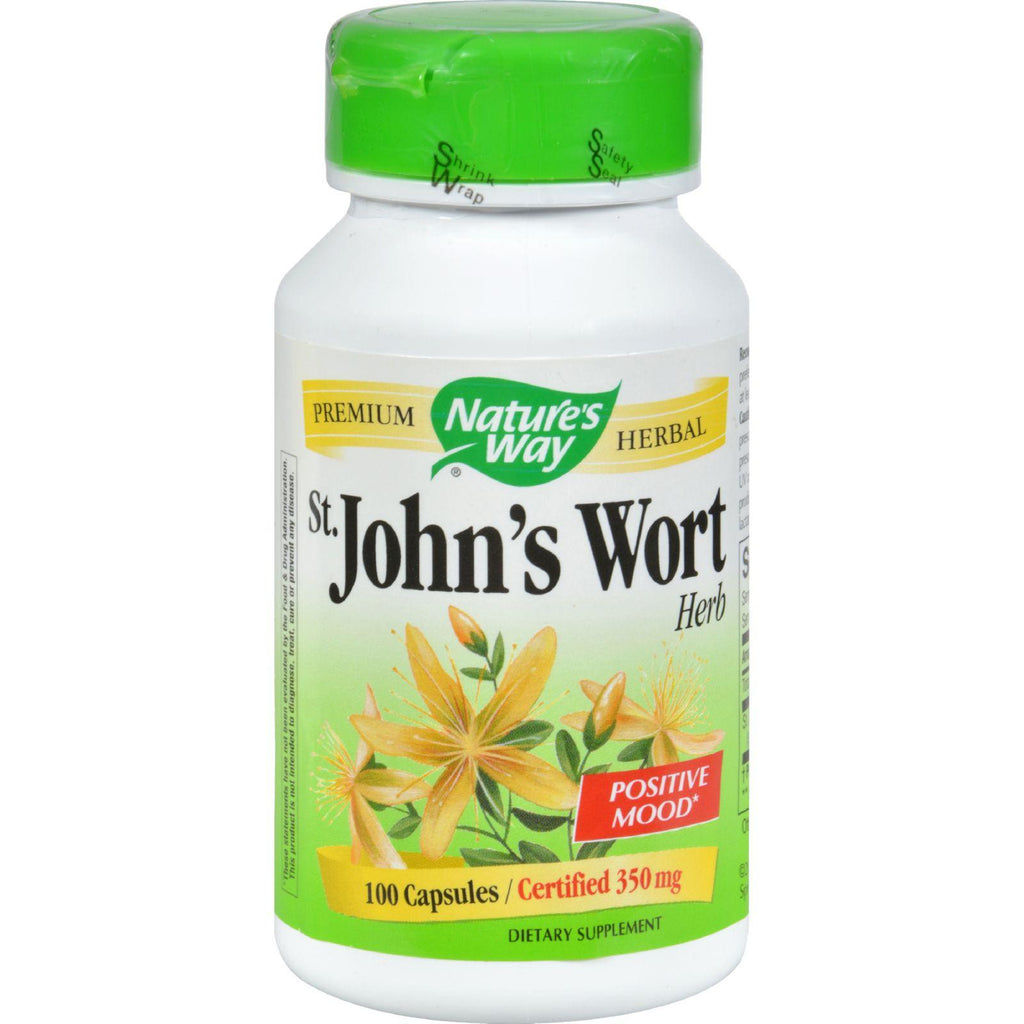 Nature's Way St John's Wort Herb - 100 Capsules-Nature's Way-pantryperks