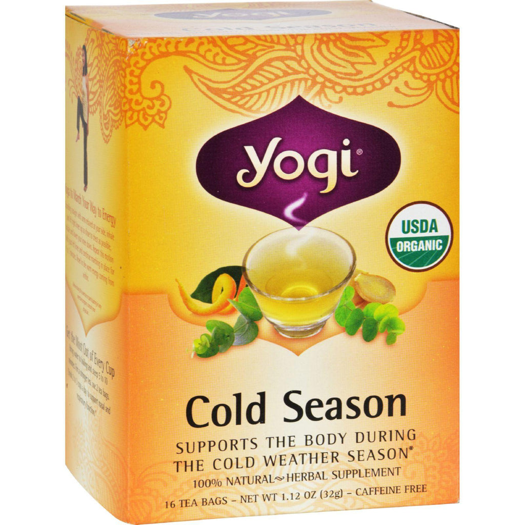 Yogi Organic Herbal Tea Cold Season Caffeine Free Unflavored - 16 Tea Bags-Yogi-pantryperks