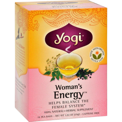 Yogi Woman's Energy Herbal Tea Caffeine Free - 16 Tea Bags - Case Of 6-Yogi-pantryperks