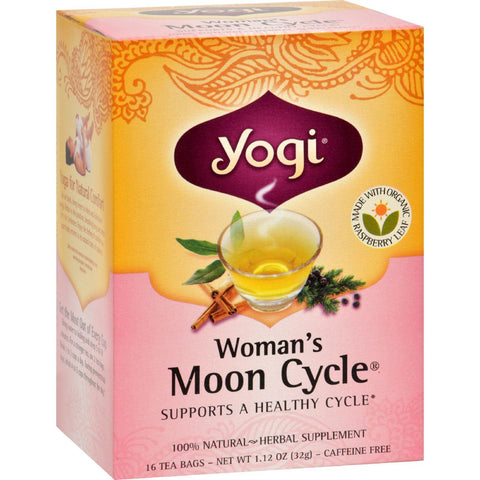 Yogi Woman's Moon Cycle Herbal Tea Caffeine Free - 16 Tea Bags - Case Of 6-Yogi-pantryperks