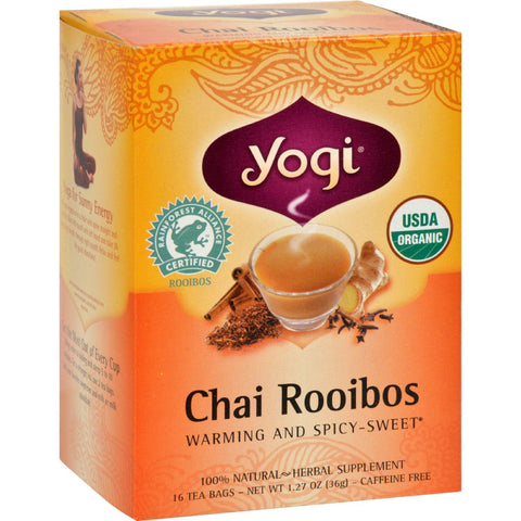Yogi Tea - Chai Rooibos - 16 Count - Packaging May Vary-Yogi-pantryperks