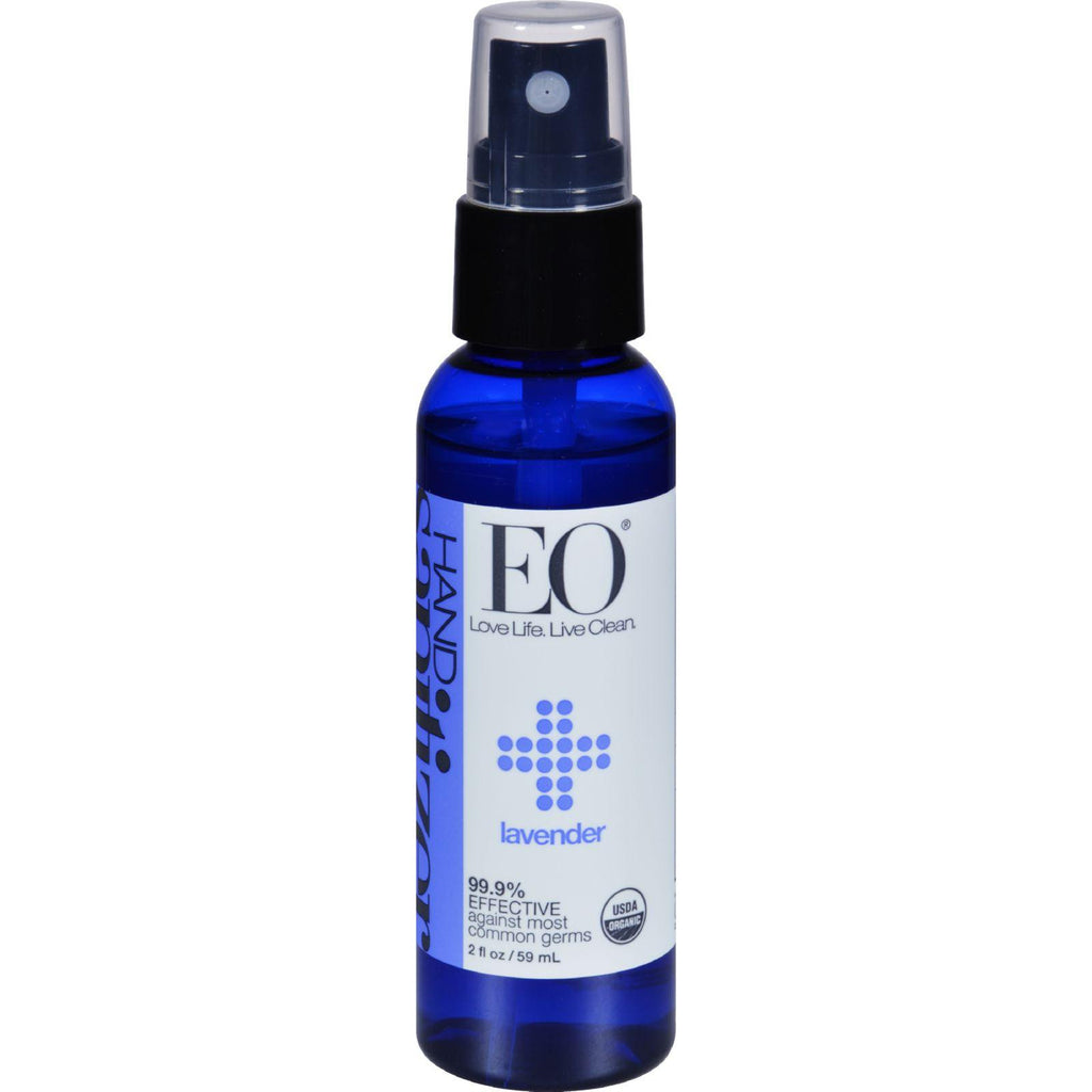Eo Products Hand Sanitizer Spray - Lavender - 2 Fl Oz - Case Of 6-Eo Products-pantryperks