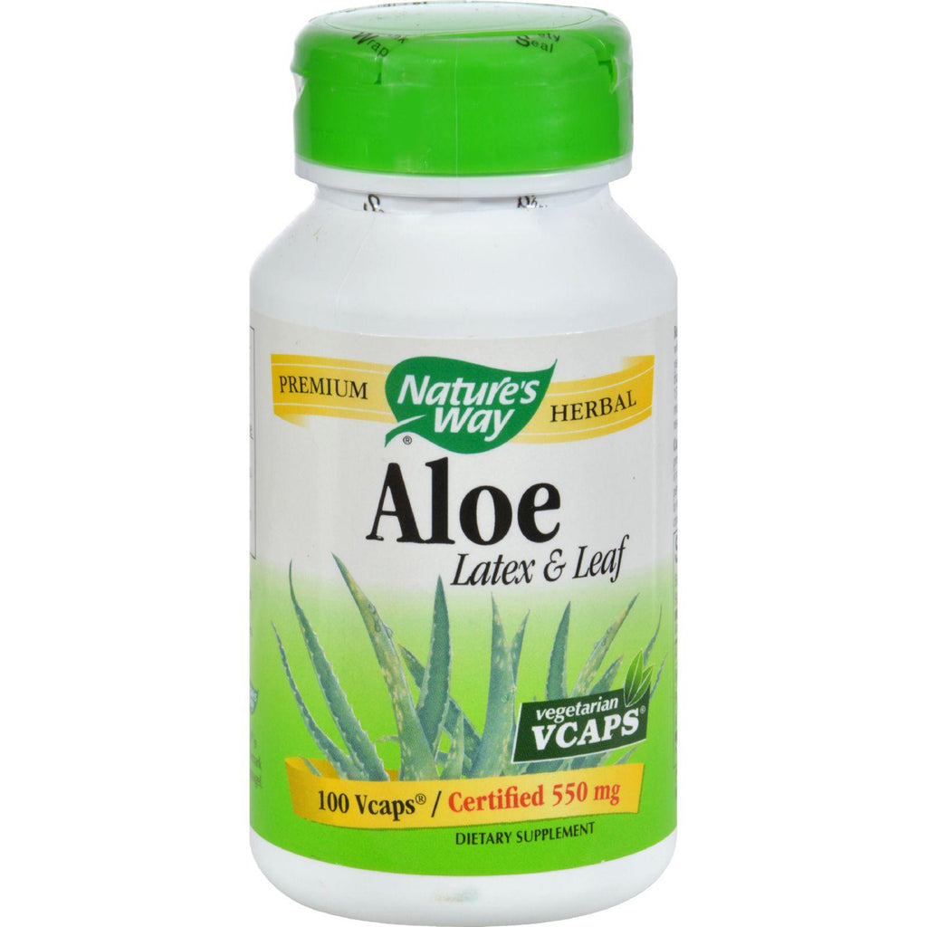 Nature's Way Aloe Latex with Fennel - 140 mg - 100 Vegetarian Capsules-Nature's Way-pantryperks