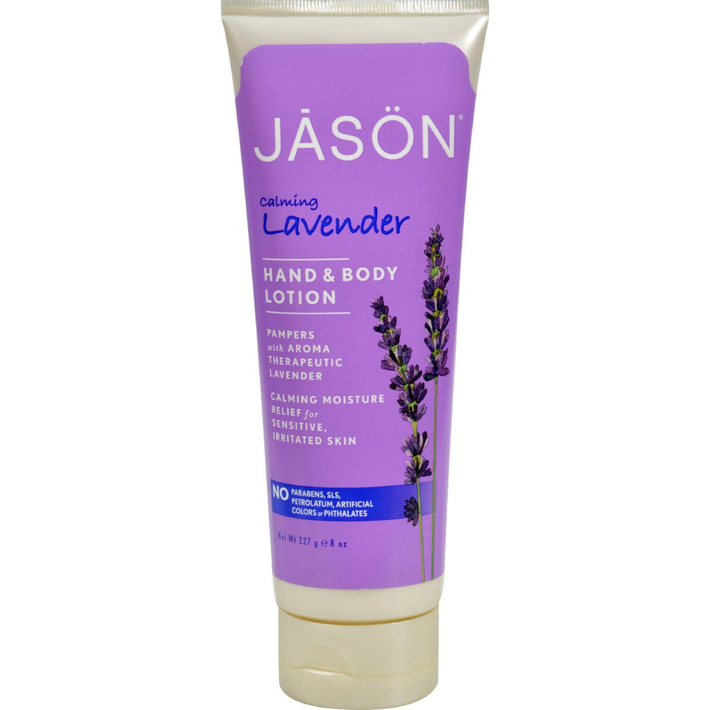 Jason Pure Natural Hand And Body Lotion Calming Lavender - 8 Fl Oz-Jason Natural Products-pantryperks