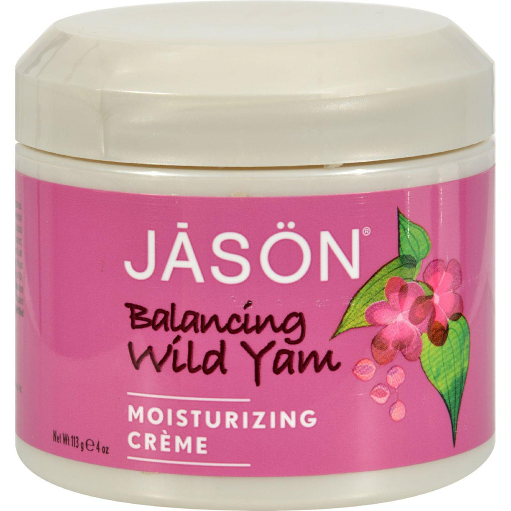 Jason Moisturizing Creme Balancing Wild Yam - 4 oz-Jason Natural Products-pantryperks