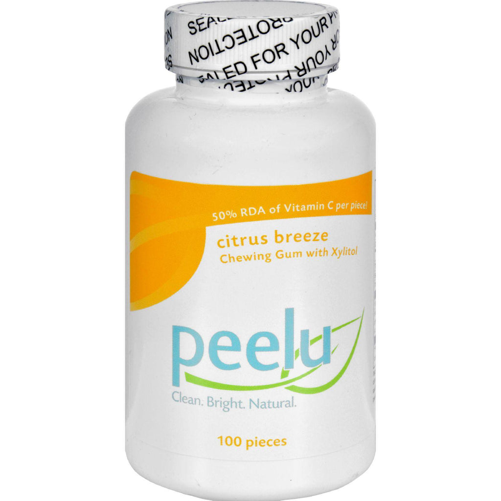 Peelu Chewing Gum - Citrus Breeze - 100 Ct-Peelu-pantryperks