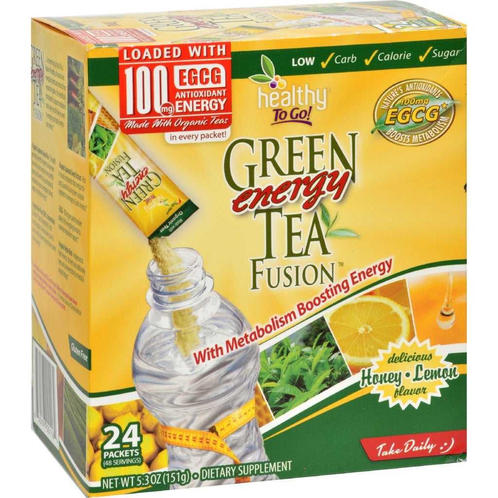 To Go Brands Green Tea Energy Fusion Honey Lemon - 24 Packets-To Go Brands-pantryperks