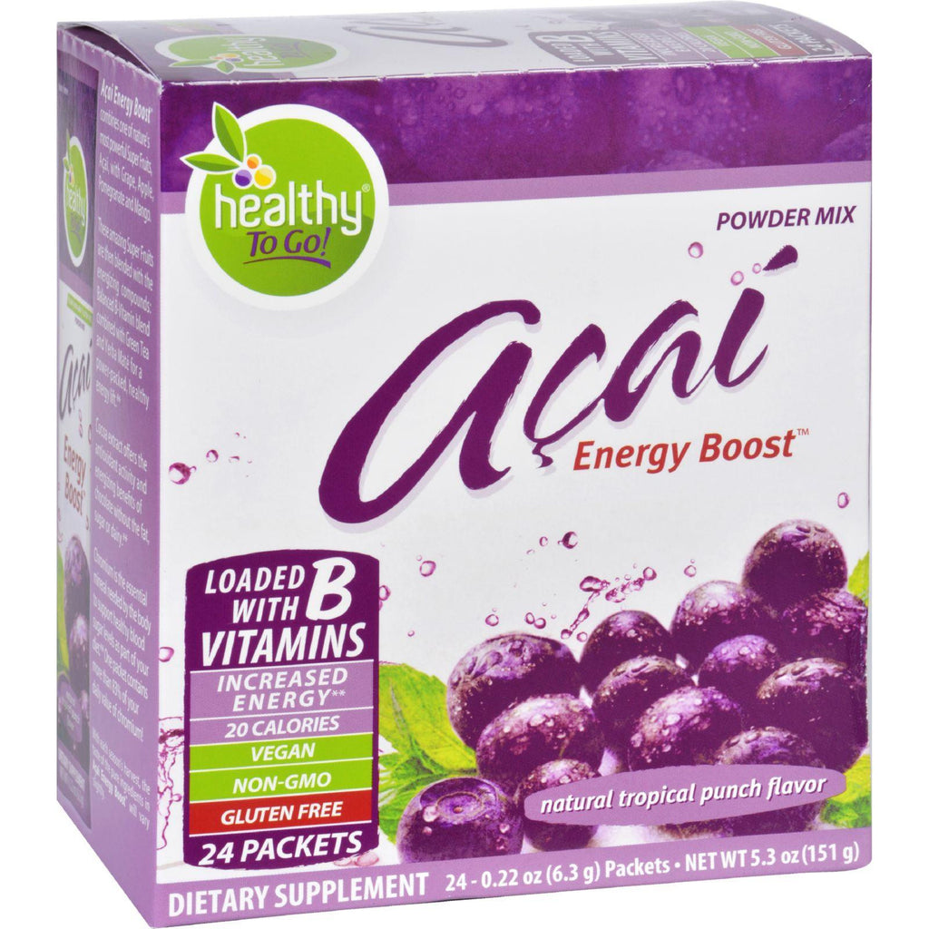 To Go Brands Acai Natural Energy Boost Powder - 24 Packets-To Go Brands-pantryperks