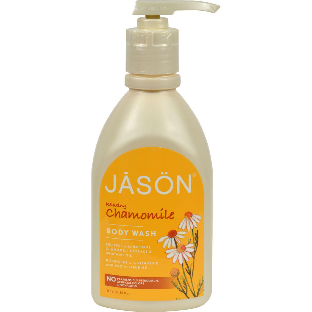 Jason Body Wash Pure Relaxing Chamomile - 30 fl oz-Jason Natural Products-pantryperks