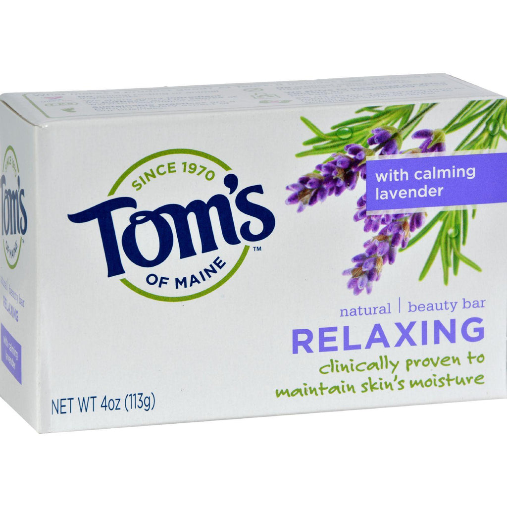 Tom's Of Maine Natural Beauty Bar Relaxing With Calming Lavender - 4 Oz - Case Of 6-Tom's Of Maine-pantryperks