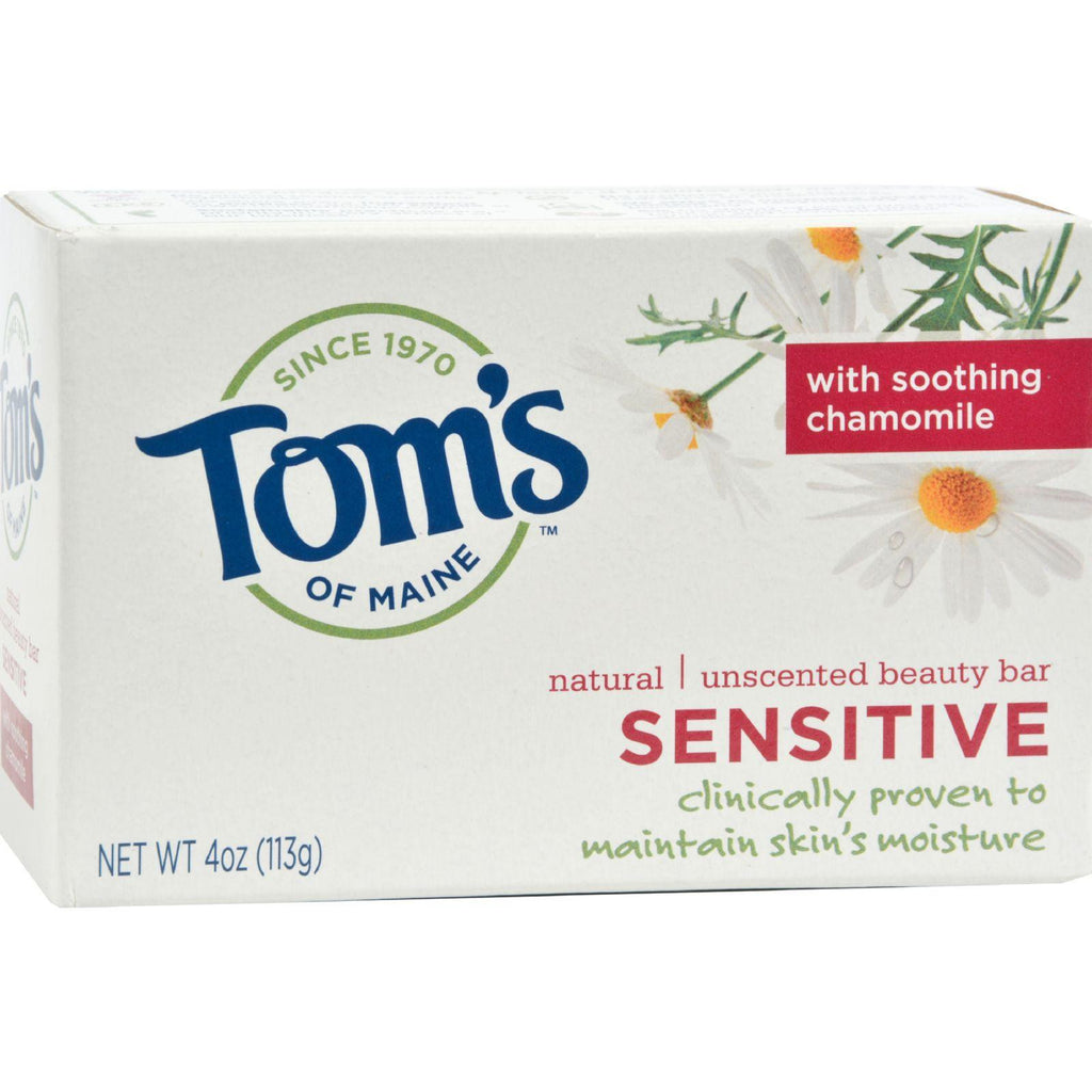 Tom's Of Maine Natural Beauty Bar Sensitive Unscented - 4 Oz - Case Of 6-Tom's Of Maine-pantryperks