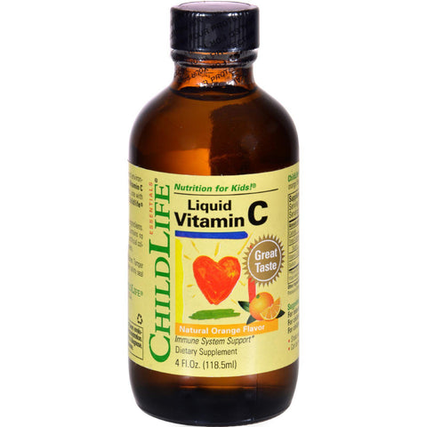 Childlife Liquid Vitamin C Orange - 4 Fl Oz-Child Life-pantryperks
