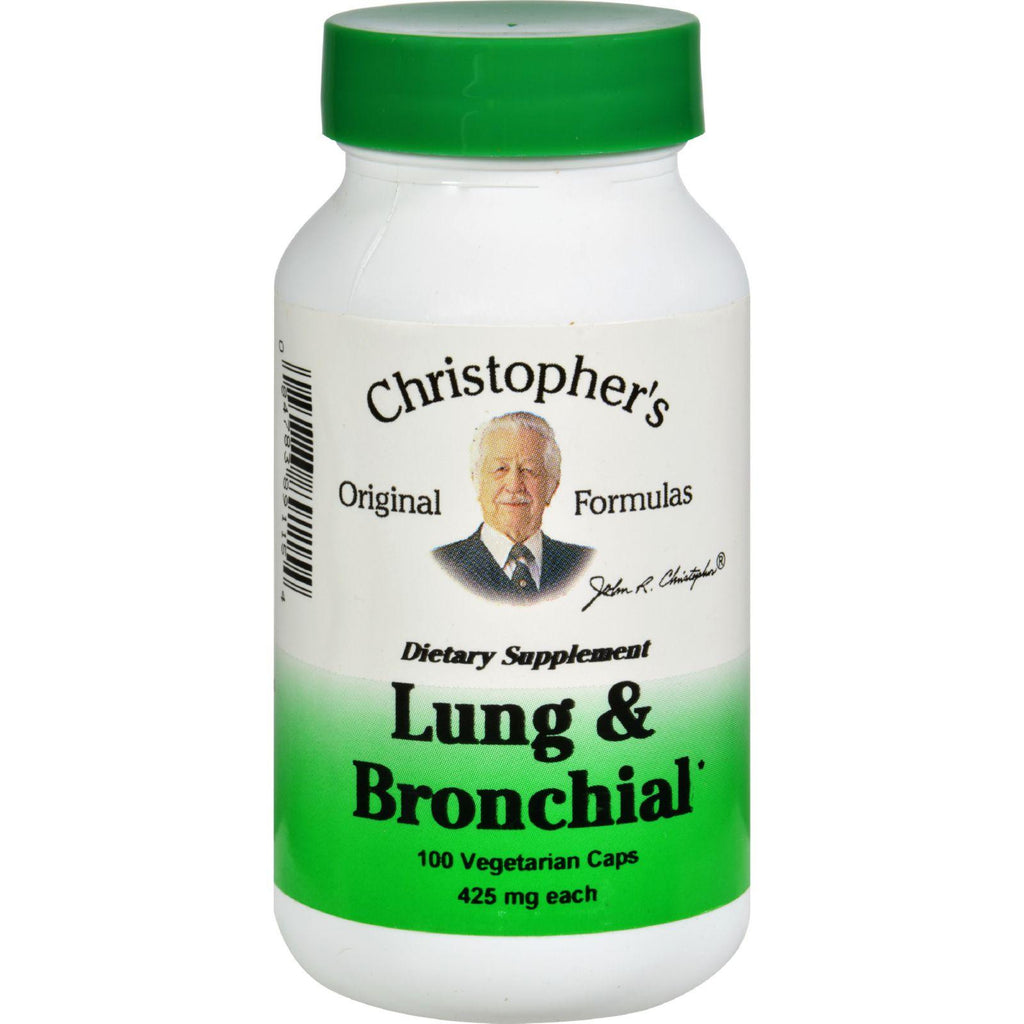 Dr. Christopher's Lung And Bronchial - 450 Mg - 100 Vegetarian Capsules-Dr. Christopher's Formulas-pantryperks