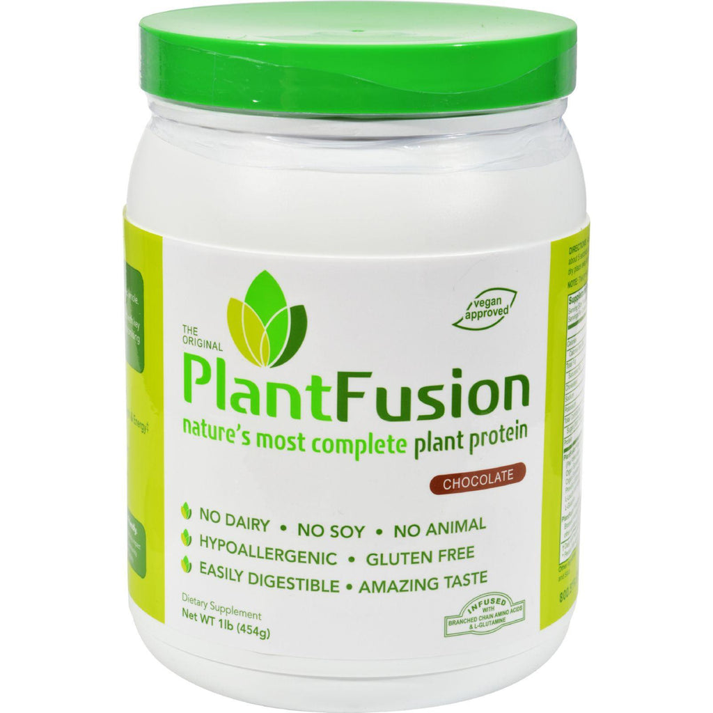 PlantFusion Complete Plant Protein Chocolate - 1 lb-Plantfusion-pantryperks
