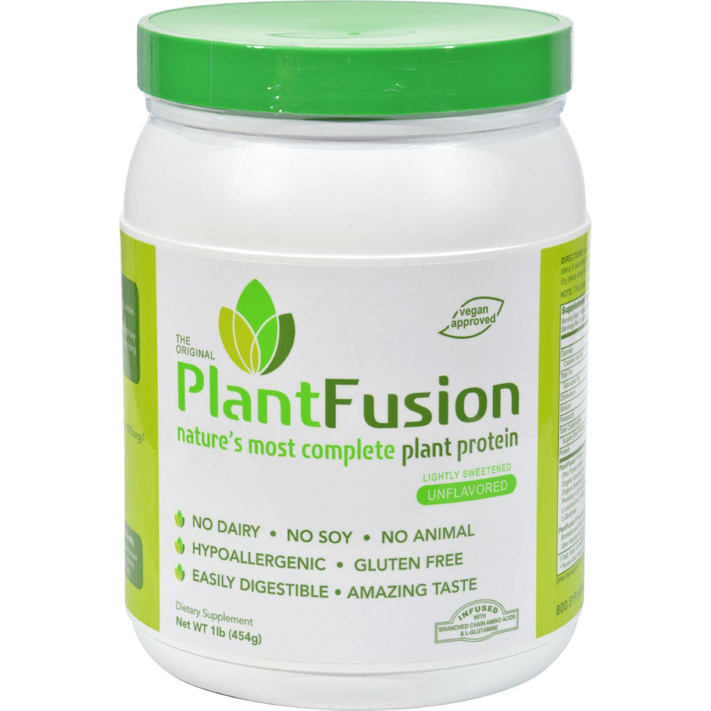 PlantFusion Multi Source Plant Protein Lightly Sweetened - 1 lb-Plantfusion-pantryperks
