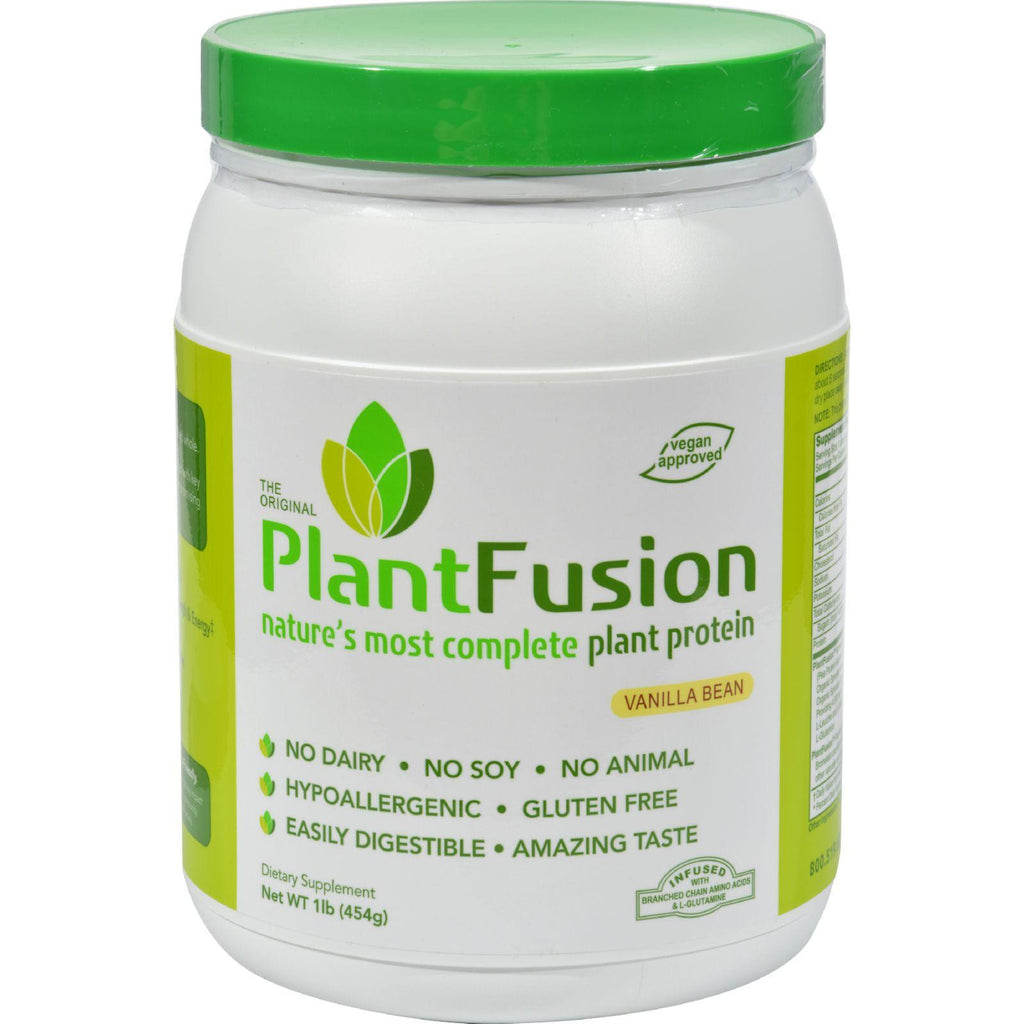 PlantFusion Complete Plant Protein Vanilla Bean - 1 lb-Plantfusion-pantryperks
