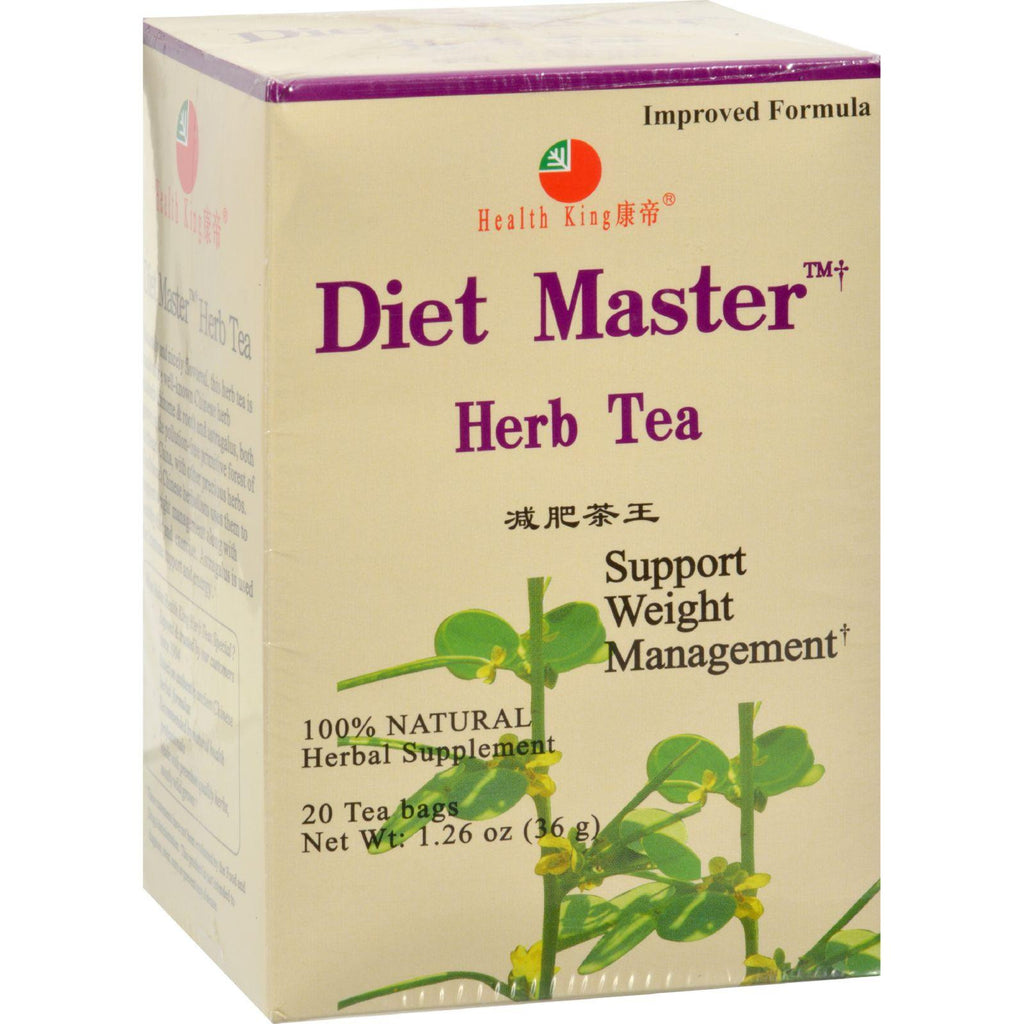 Health King Diet Master Herb Tea - 20 Tea Bags-Health King Medicinal Teas-pantryperks