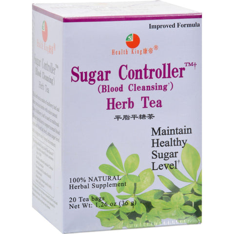 Health King Sugar Controller Blood Cleansing Herb Tea - 20 Tea Bags-Health King Medicinal Teas-pantryperks