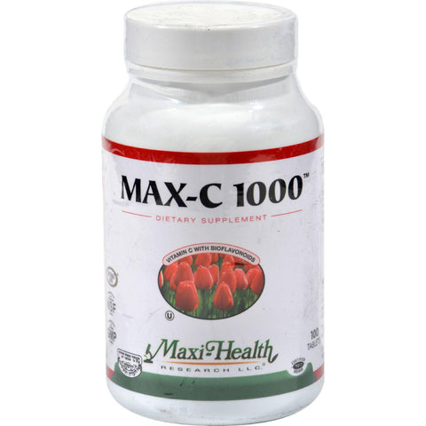 Maxi Health C-1000 With Bioflavonoids - 1000 Mg - 100 Tablets-Maxi Health Kosher Vitamins-pantryperks