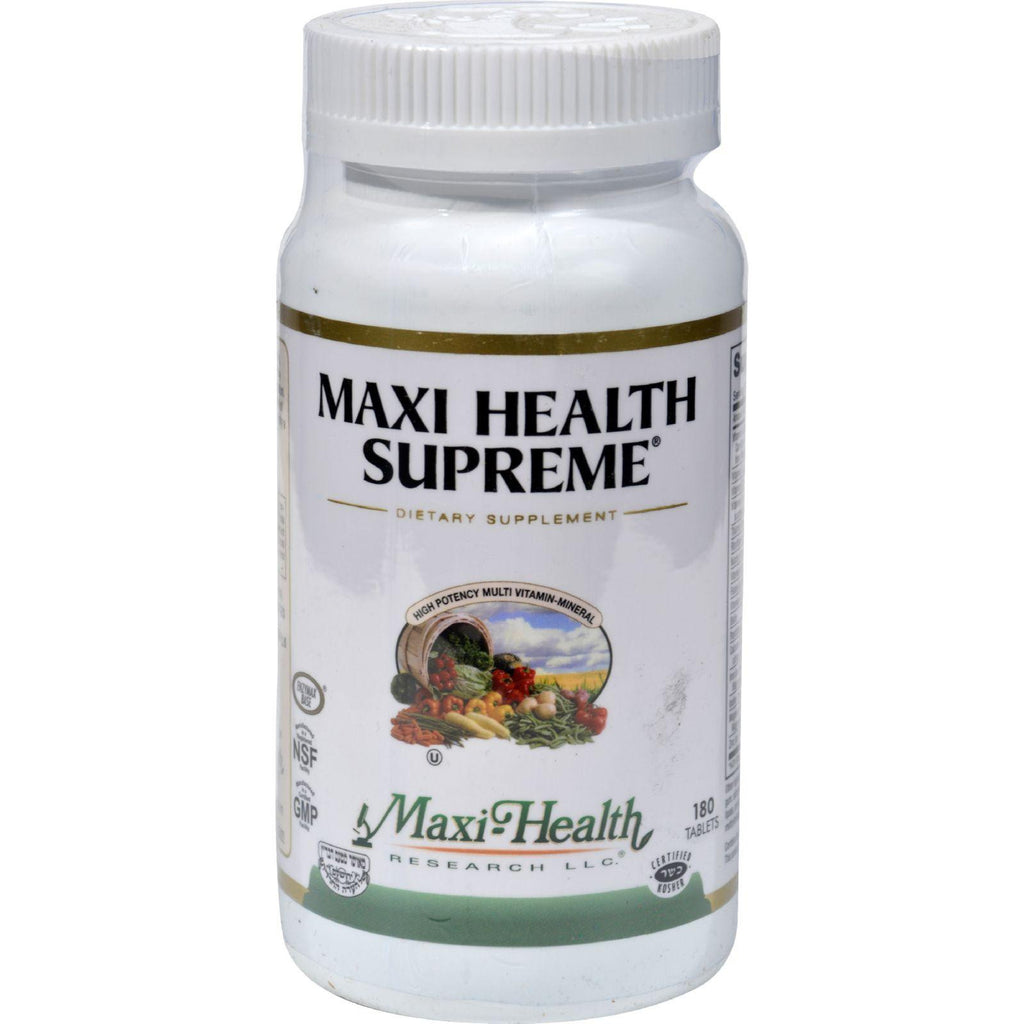 Maxi Health Supreme Vit And Min - 180 Tablets-Maxi Health Kosher Vitamins-pantryperks