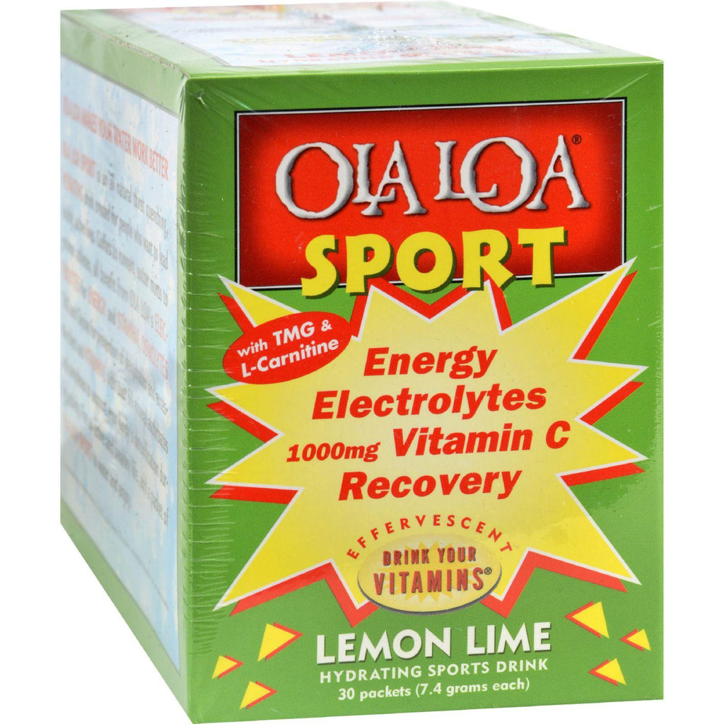 Ola Loa Sport Lemon Lime - 30 Packets-Ola Loa Products-pantryperks