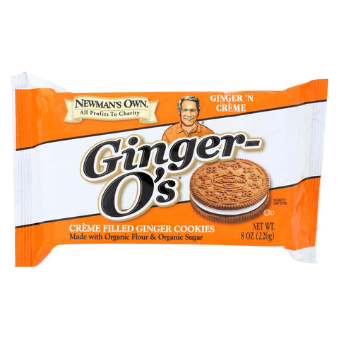 Newman's Own Ginger-O's Creme Filled Cookies Ginger 'N Creme - 8 oz-Newman's Own Organics-pantryperks