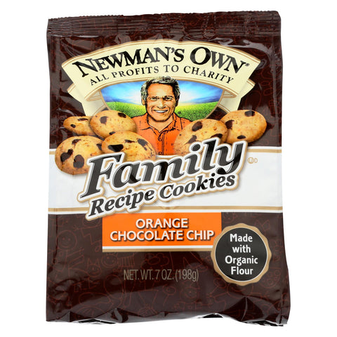 Newman's Own Family Recipe Cookies Orange Chocolate Chip - 7 oz-Newman's Own Organics-pantryperks