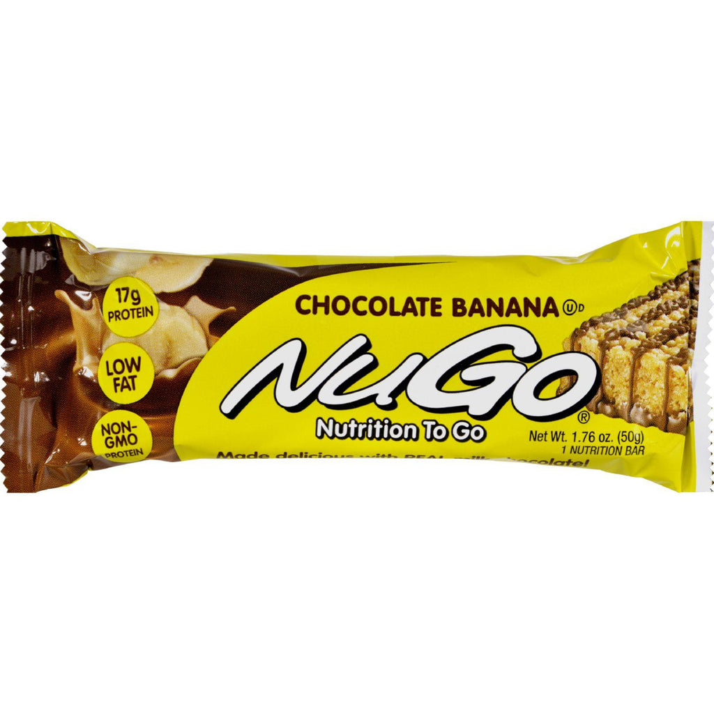 Nugo Nutrition Bar - Chocolate Banana - Case Of 15 - 1.76 Oz-Nugo Nutrition-pantryperks