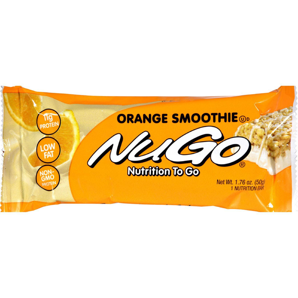 Nugo Nutrition Bar - Orange Smoothie - Case Of 15 - 1.76 Oz-Nugo Nutrition-pantryperks