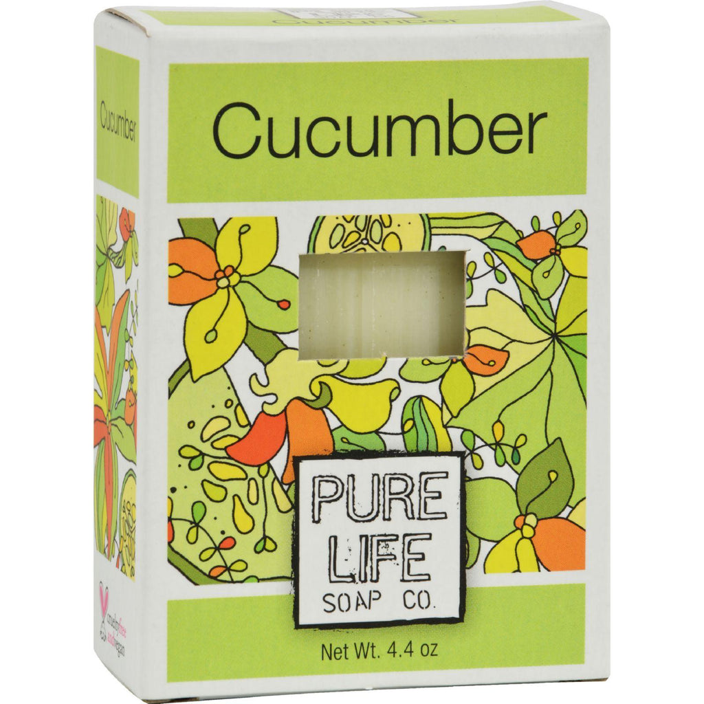 Pure Life Soap Cucumber - 4.4 Oz-Pure Life-pantryperks