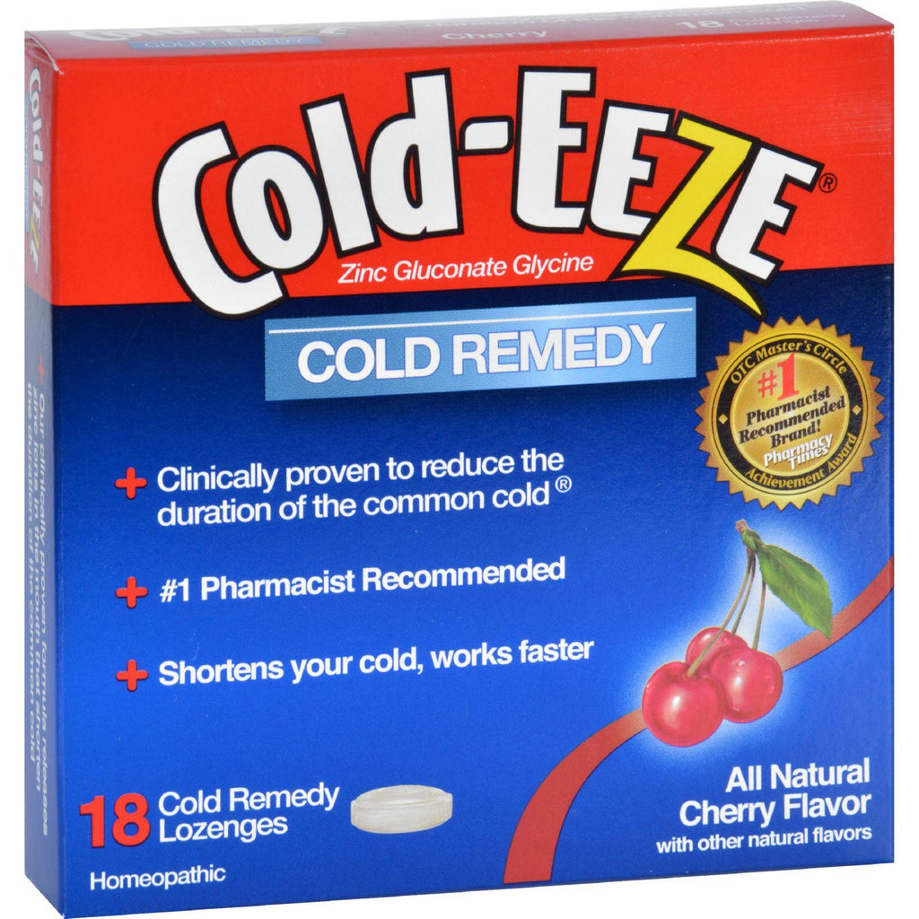 Cold-eeze Cold Remedy - All Natural Cherry Flavor - 18 Lozenges-Cold-eeze-pantryperks
