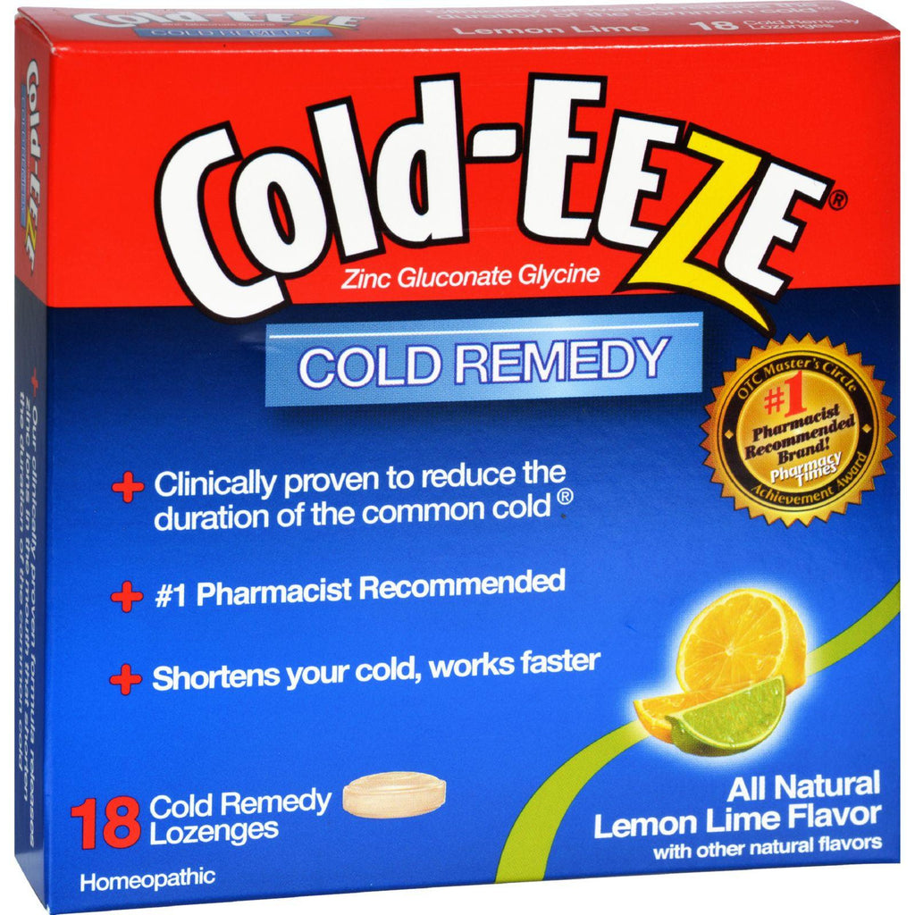 Cold-eeze Cold Remedy Lozenges Lemon Lime - 18 Lozenges-Cold-eeze-pantryperks