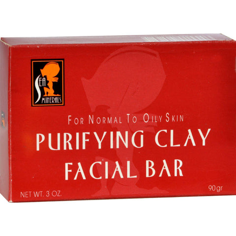 Sea Minerals Purifying Clay Soap - 3 Oz-Sea Minerals-pantryperks